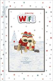 Boofle Amazing Wife At Christmas Greeting Card