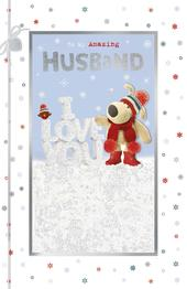 Boofle Amazing Husband At Christmas Greeting Card