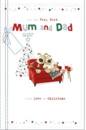 Boofle Best Mum & Dad At Christmas Greeting Card