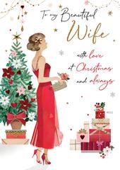 My Beautiful Wife Luxury Lavish Large Christmas Card