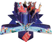 Santa & His Sleigh Pop-Up Christmas Greeting Card