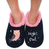 Snoozies! Black & Pink Night Owl Ladies Small