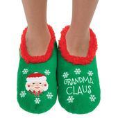 Snoozies! Xmas Family Grandma Claus Ladies Small