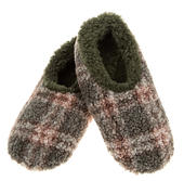 Snoozies! Green Patterned Boucle Mens Large