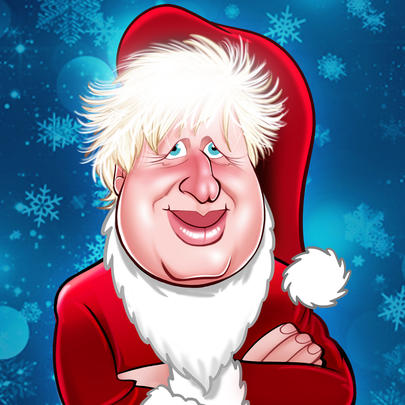 Boris Johnson Christmas Greeting Sound Card