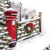 Post Box Musical Christmas Greeting Card