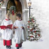 Choir Boys Musical Christmas Greeting Card