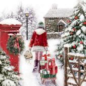 Sledge & Snow Musical Christmas Greeting Card