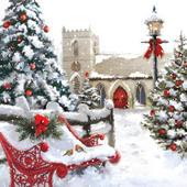 Christmas Church Musical Christmas Greeting Card