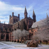 Chester Cathedral Musical Christmas Greeting Card