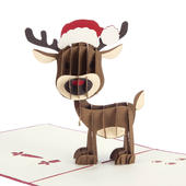 Rudolph The Red Nosed Reindeer Pop-Up Christmas Greeting Card