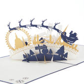 The Night Before Christmas Pop-Up Christmas Greeting Card
