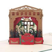 Nutcracker Theatre Ballet Pop-Up Christmas Greeting Card