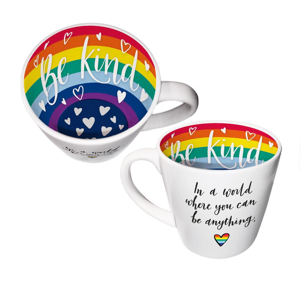 Be Kind Be Anything Rainbow Inside Out Mug