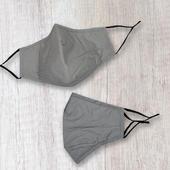 Fashionable Fabric Grey Plain Face Mask Durable & Reusable