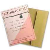 Birthday Girl Bracelet String Beads String With Beads & Heart Charm With Mini Envelope