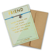 Friends Are Like Stars Friendship Bracelet String With Beads & Star Charm With Mini Envelope