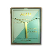 Mum One Of A Kind Brushed Gold Vertical Bar Necklace In Presentation Box