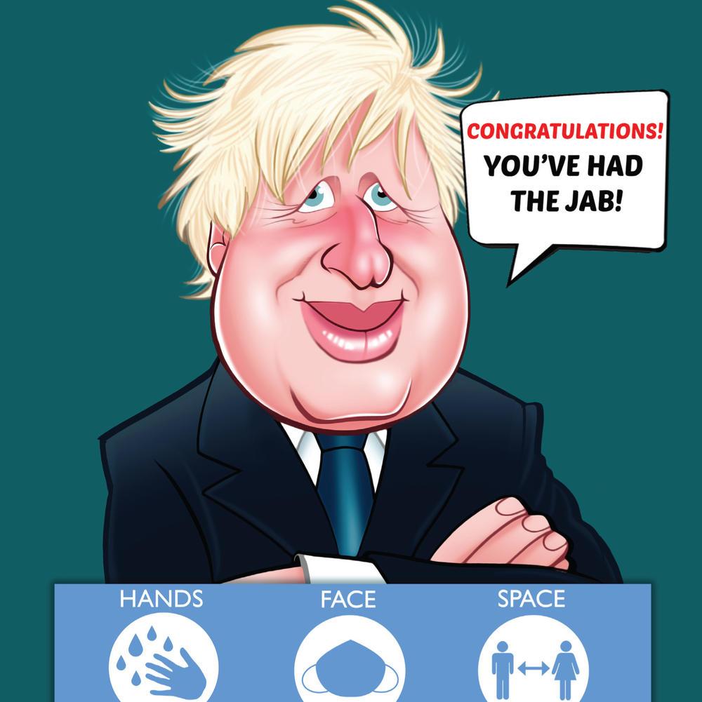 Boris Novelty Congratulations You've Had The Jab Sound Greeting Card Covid-19 Vaccine Keepsake Card