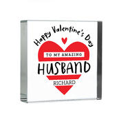 Personalised Valentine's Day Crystal Token - Personalise It!