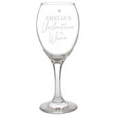 Personalised Wine Is My Valentine Wine Glass - Personalise It!