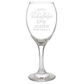 Personalised Valentine's Day Wine Glass - Personalise It!
