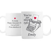 Personalised Just My Type Valentines Mug - Personalise It!