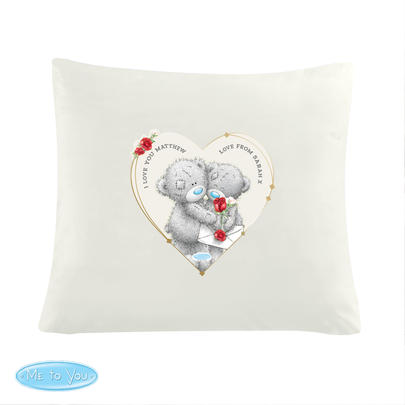 Personalised Me to You Valentine Cushion Cover - Personalise It!