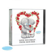Personalised Me to You Valentine Large Crystal Token - Personalise It!