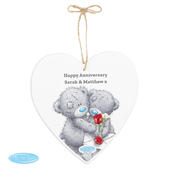 Personalised Me to You Valentine Large Wooden Heart Decoration - Personalise It!