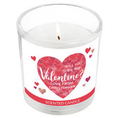 Personalised Valentine's Day Confetti Hearts Scented Jar Candle - Personalise It!