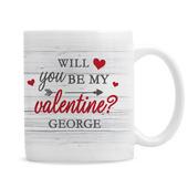 Personalised Be My Valentine Mug - Personalise It!