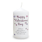 Personalised Flowers and Butterflies Happy Valentines Day Candle - Personalise It!