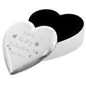 Personalised Be My Valentine Heart Trinket Box - Personalise It!