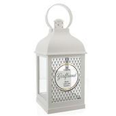 Personalised Opulent White Lantern - Personalise It!