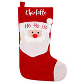 Personalised Name Only Santa Christmas Stocking - Personalise It!