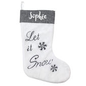 Personalised Let It Snow Christmas Stocking - Personalise It!