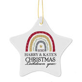 Personalised Christmas Lockdown Ceramic Star Decoration - Personalise It!