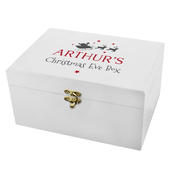 Personalised Christmas Eve White Wooden  Box - Personalise It!