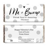 Personalised Me & Bump Design Milk Chocolate Bar - Personalise It!