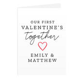 Personalised Our 1st Valentine's Day Card Add Any Name - Personalise It!