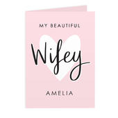 Personalised My Beautiful Wifey Card Add Any Name - Personalise It!