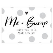 Personalised Me & Bump Card Add Any Name - Personalise It!