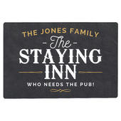 Personalised Staying Inn Metal Sign - Personalise It!