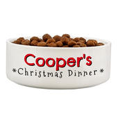 Personalised Christmas Dinner 14cm Medium Pet Bowl - Personalise It!