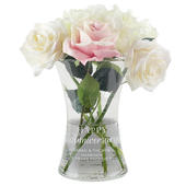 Personalised 'Happy Anniversary' Glass Vase - Personalise It!