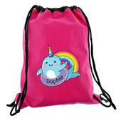 Personalised Narwhal Pink Swim Bag - Personalise It!