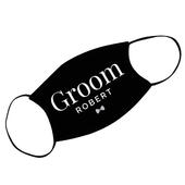 Personalised Groom Face Covering - Personalise It!