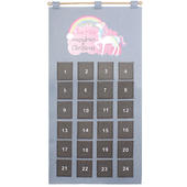 Personalised Christmas Unicorn Advent Calendar In Silver Grey - Personalise It!