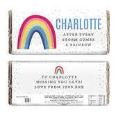Personalised Rainbow Milk Chocolate Bar - Personalise It!